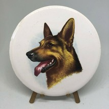 "Antique Vintage Victorian German Shepard Dog Porcelain Art With Stand 3.5""  - $18.00"