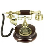Decorative Antique Wooden Telephone Digital Screen Number Call Display - $49.49