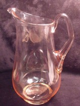 QUALITY VINTAGE HAND BLOWN 6 CUP (48 OZ.)  PINK GLASS PITCHER - $44.55