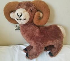 """Vintage Dakin Pillow Pets Bighorn Sheep Brown Plush 18"""" x 20"""" Stuffed An... - $96.95"""
