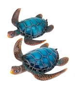 Blue Sea Turtle Statues: Set of Two (Available 8/13/2020 - Reserve Now) - $95.55