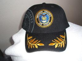 U S Air Force Shadowed emblem on a Dark Blue/Black ball cap  - $20.00