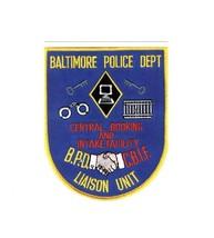 PICTURE POSTCARD - BALTIMORE POLICE DEPARTMENT LIAISON UNIT PATCH BK5 - $1.94