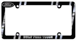 Ford Built Tough Heavy Duty Black Chrome Metal License Plate Frame - $19.95