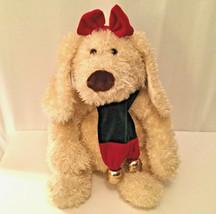 "Commonwealth Stuffed Plush Darla & Darby Large Cream Puppy Dog 16"" 2000 ... - $15.44"