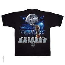 Oakland Raiders New With Tags Sky Helmet T-Shirt Black Shirt Nfl Licensed - $21.99