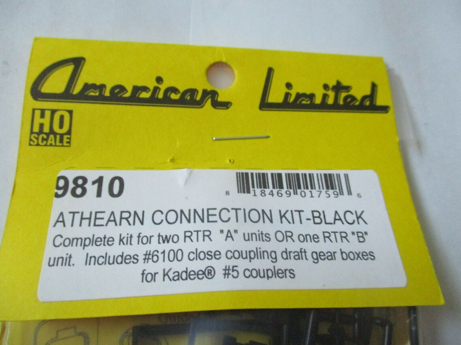 American Limited # 9810 Athearn Operating Diaphragms Black HO-Scale