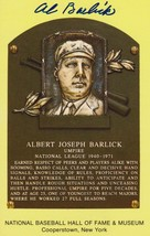Al Barlick (d. 1995) Signed Autographed Hall of Fame Plaque Postcard - $29.99