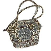 Vera Bradley Slate Blooms Satchel Bag Tote Hobo Handbag Purse - $13.97