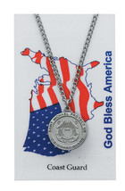 Coast Guard w/ St. Michael necklace along with a laminated prayer card & magnet  - $12.95