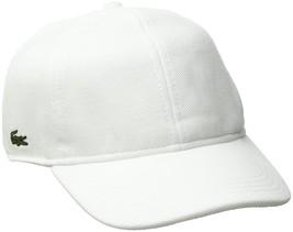 Lacoste Men's Pique Cotton Cap White - $35.20