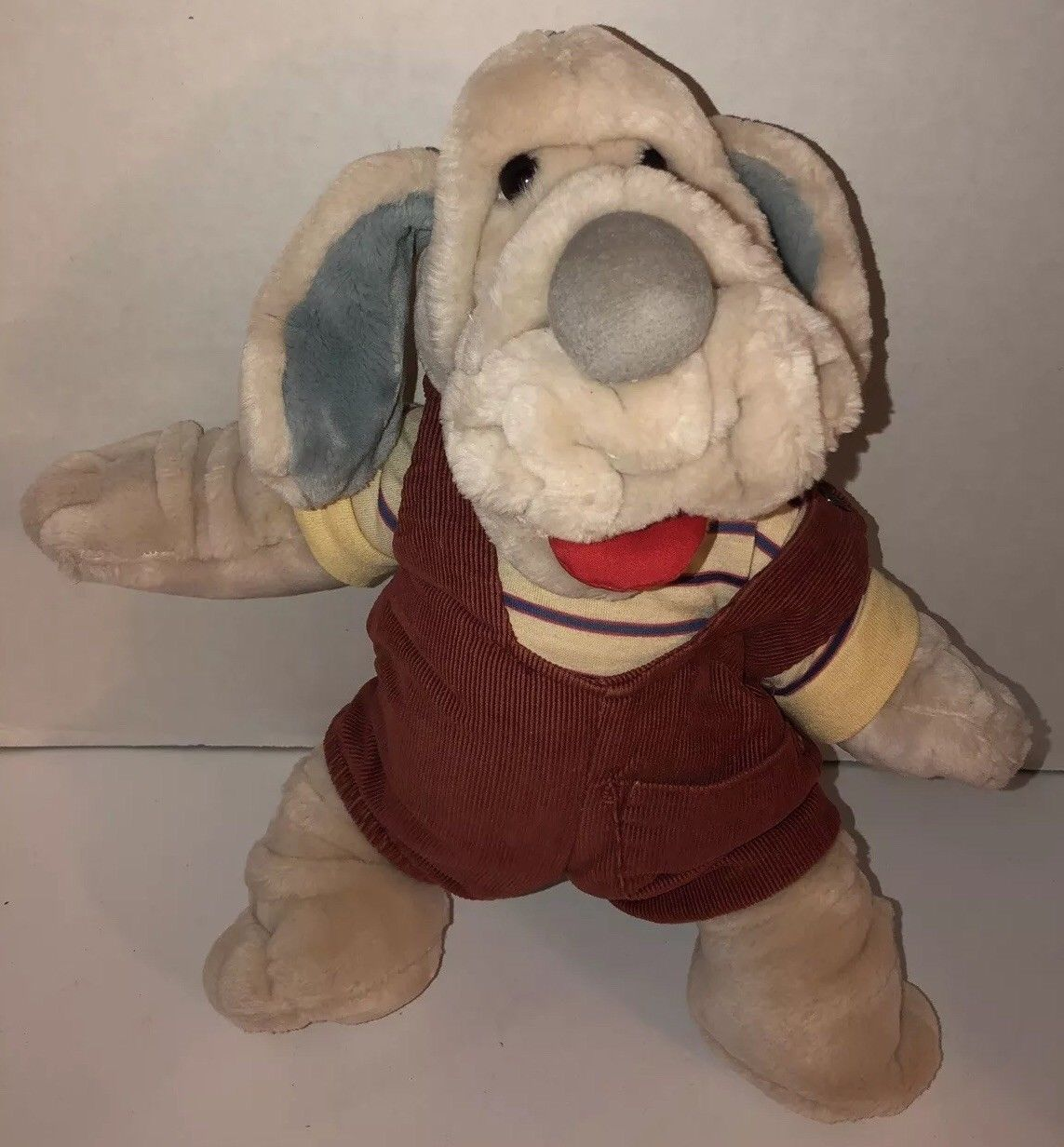 "Primary image for Vintage 80s WRINKLES Dop Puppet Male Ganz Bros 1981 Hand Cream Puppy 17"" Long"