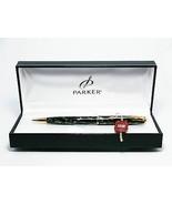 Parker sonnet lacuer GT black and grey ballpen + premium metal parker gi... - $76.44