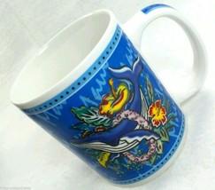 HILO HATTIE Hawaii Whale Lei Coffee Mug Hibiscus Island Heritage Maui Fl... - $12.30