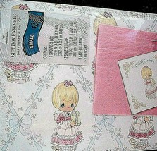 Vintage Hallmark Wrapping Paper Precious Moments Gift Wrap Scrapbooking ... - $7.91
