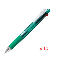 [Xmas] Zebra B4SA1 Clip-on multi 0.7mm Multifunctional Pen (10pcs) - Green - $38.32