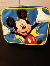 Disney Mickey Mouse Blue 3D Insulated Canvas Lunch Bag/BackPack New Condition image 1