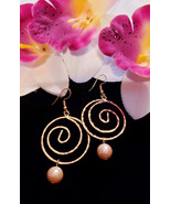 Round Spiral Pearl earrings - $20.00