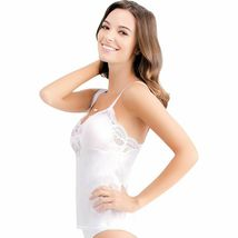 Illusion Women's Premium Nylon Lace Inset Camisole Slip Top With Lace Trim 2032 image 8