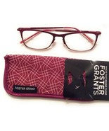 +2.50 Foster Grant Premium Womans Red Metal Reading Glasses Leighton - $9.40