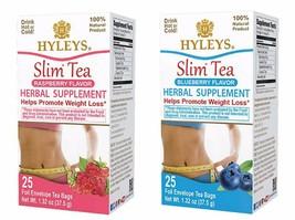 Hyleys 100% Natural Slim Tea Raspberry and Blueberry Flavor (25 Teabags each) - $12.99