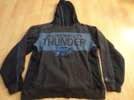 Men's Oklahoma City Thunder S Hoodie Hooded Sweatshirt Adidas - $12.19
