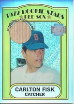 2001 Topps Archives Reserve Rookie Reprint Relics Carlton Fisk 23 Red Sox - $10.00