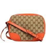 Gucci Bree Beige Original Canvas 'GG' Logo Orange Cross-Body Over The Sh... - $995.00