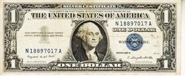 SERIES 1957   A        ONE DOLLAR SILVER CERTIFICATE==GOOD CONDITION - $1.73