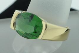 Custom made 18K Yellow Gold 5ct+/- Green Tourmaline Ring (Size 9 3/4) - $950.00