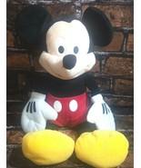 "Disney Plush Mickey Mouse Stuffed Animal 18"" Just Play Black Red Yellow - $14.54"