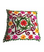 Pom Pom Pillow Cover, Suzani Pillows Outdoor Cushion Cover, Bohemian Pillow - $11.38