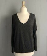 American Eagle Outfitters Gray Striped Shirt Size Large  - $4.74