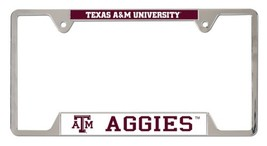 Texas A&M Aggies Heavy Duty Chrome Metal License Plate Frame - $13.95