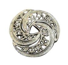 Vintage SilverToned Costume Jewelry Brooch Designer Signed Gerry's - $24.23
