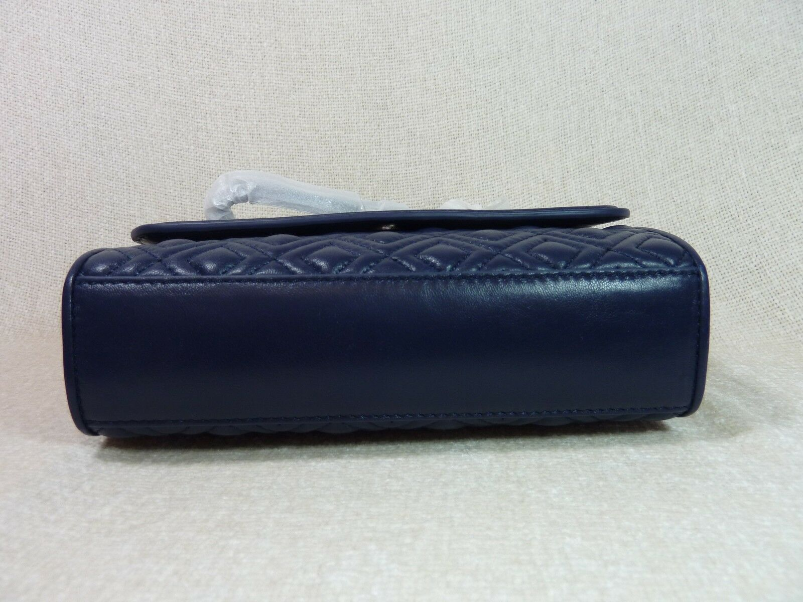 NWT Tory Burch Royal Navy Leather Small Fleming Convertible Bag