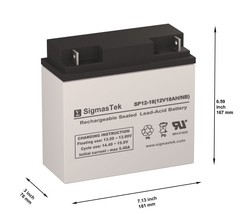 12 Volt 18 Amp Compaq 142228-005 Replacement by SigmasTek - ₹2,976.88 INR