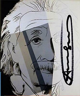 Andy Warhol, ALBERT EINSTEIN Ten Portraits of Jews Hand signed offset lithograph