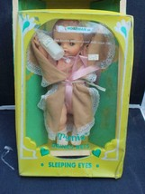 "Vintage Horsman Tynie Doll Unused in Box 11"" Drinks, Wets Sleep Eyes + Bottle - $42.08"