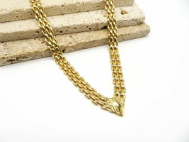 Vintage Avon Gold Tone Panther Link Chain Necklace I56 - $26.99