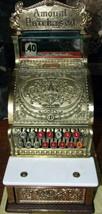 ANTIQUE BRASS NATIONAL CASH REGISTER MODEL 312 CANDY OR BARBER SHOP   NICE - $1,381.05