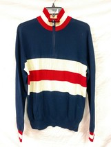 Men's Polo Ralph Lauren Half Zip Turtle Neck Knit Sweater Red White Navy... - $98.99