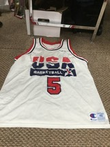 David Robinson Team USA White Champion Jersey Size 48 - $128.69
