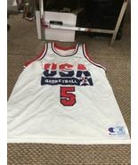 David Robinson Team USA White Champion Jersey Size 48 - $128.69