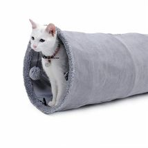 Collapsible Cat Tunnel Crinkle Kitten Play Tube For Large Cats Dogs Bunnies Toy  image 9