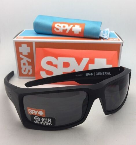 New SPY OPTIC Sunglasses GENERAL Matte Black Frames with ANSI Z87.1 Grey Lenses