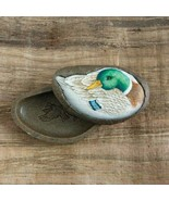 Mallard Duck Bird Wildlife Art Olszewski Natures Canvas Trinket Box Retired - $19.75