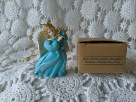 Avon Gift Collection Birthstone Angel Ornament December- Simulated Blue ... - $9.69