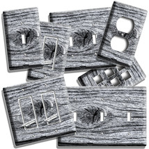 WEATHERED AGED WOOD EYE RUSTIC LOOK LIGHT SWITCH PLATES OUTLET ROOM CABI... - $10.99+