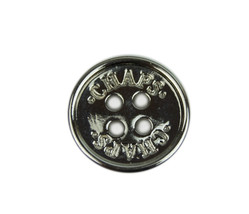 """Ralph Lauren CHAPS Silver Metal Sleeve or Pocket Replacement  button .60"""" - $3.46"""